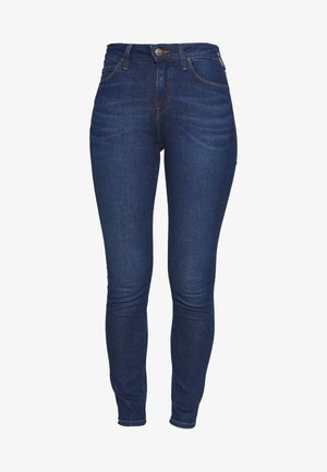 SCARLETT HIGH - Jeans Skinny Fit - dark-blue denim
