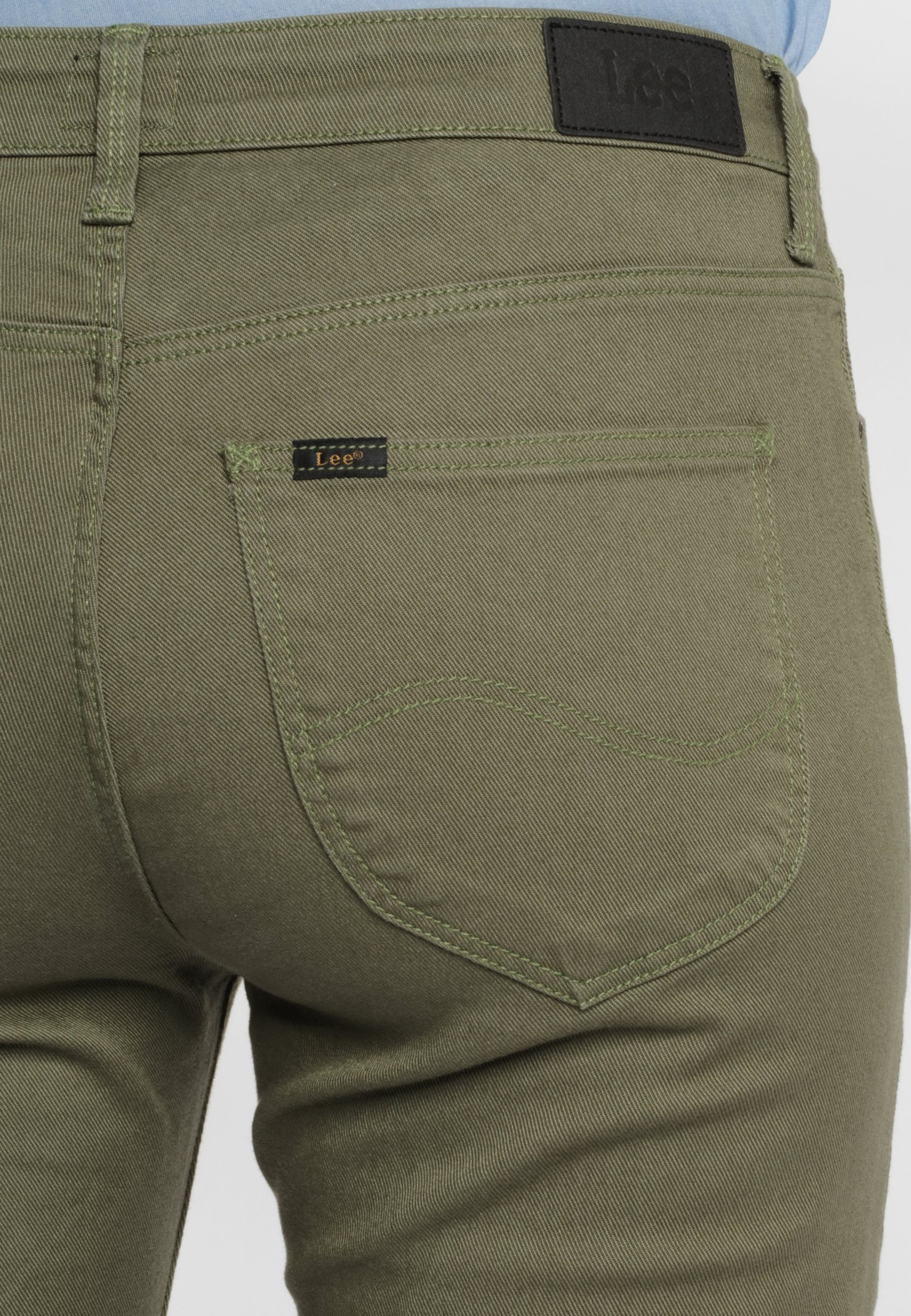 Lee ELLY - Jeansy Slim Fit - lichen green