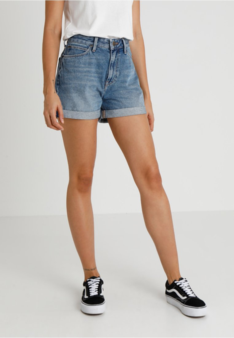 Lee - MOM - Jeans Shorts - blue