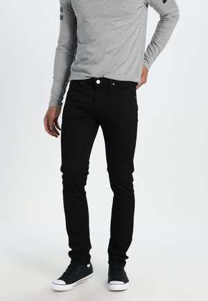 LUKE - Slim fit -farkut - clean black