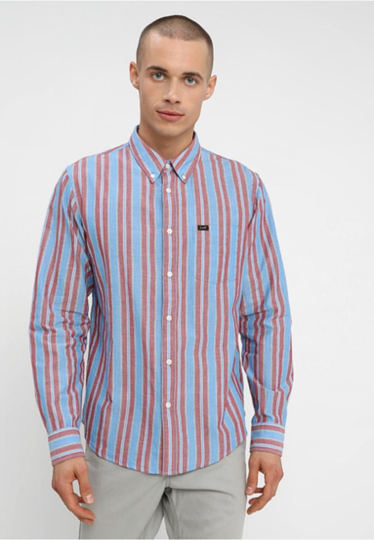 Lee - LEE BUTTON DOWN - Camicia - blue/red