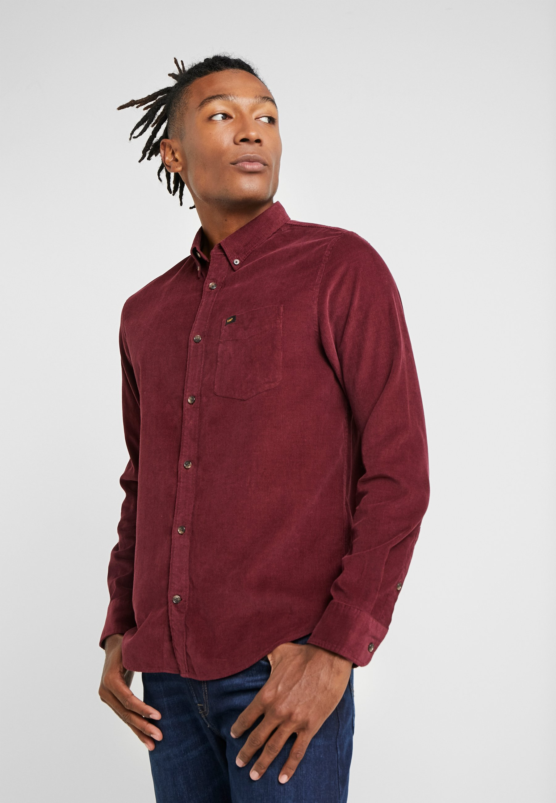 Lee BUTTON DOWN - Koszula - burgundy