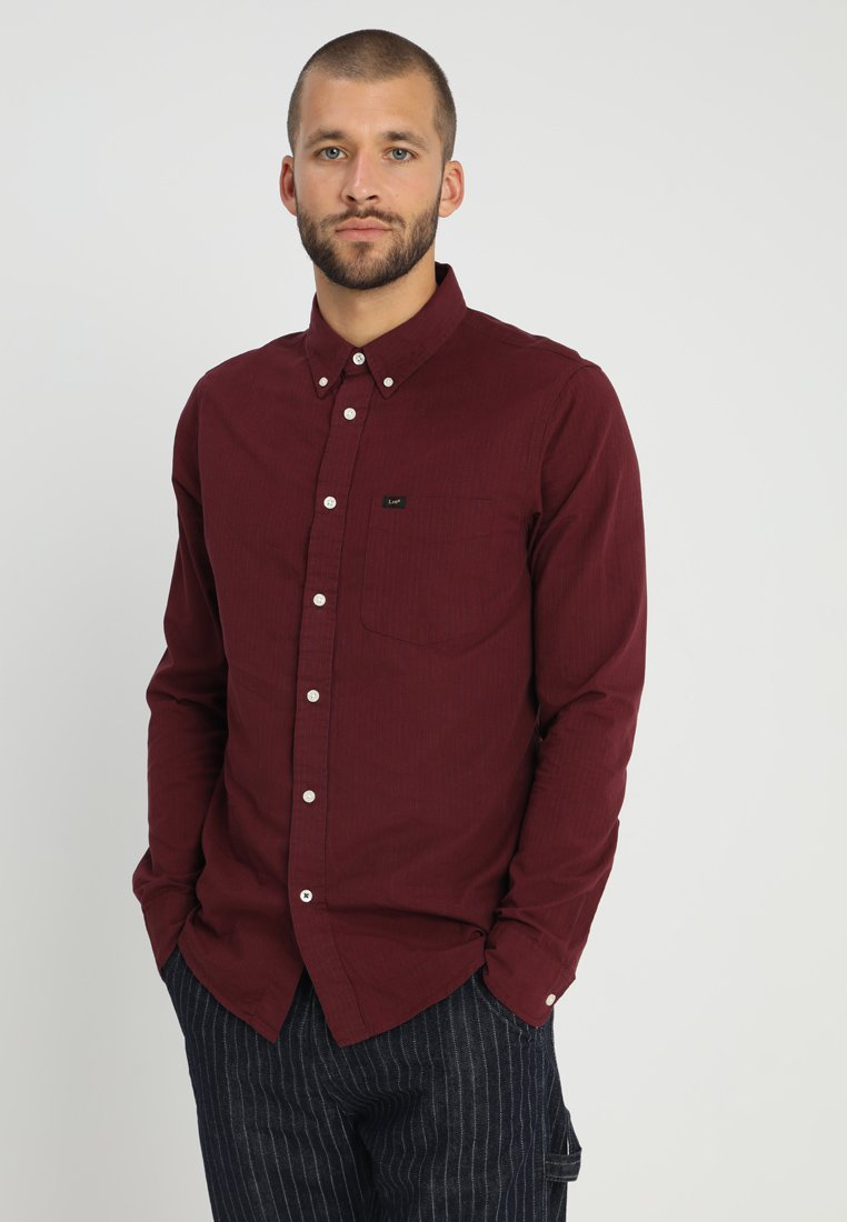 Lee - BUTTON DOWN REGULAR FIT - Hemd - maroon