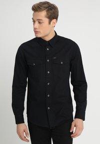Lee - WORKER WESTERN - Skjorta - black - 0