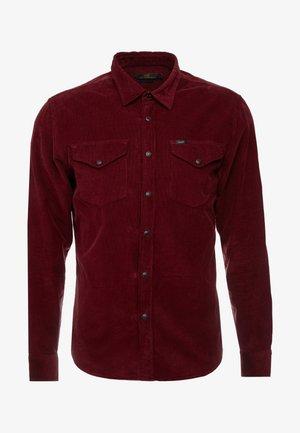 CLEAN WESTERN - Koszula - burgundy