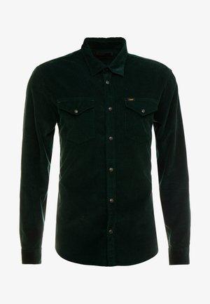 CLEAN WESTERN - Shirt - dark bottle green