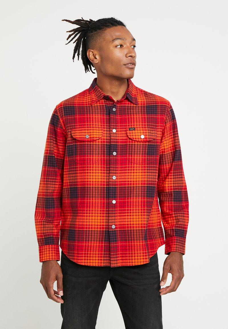 Lee - SEASONAL WORKER - Shirt - sign orange
