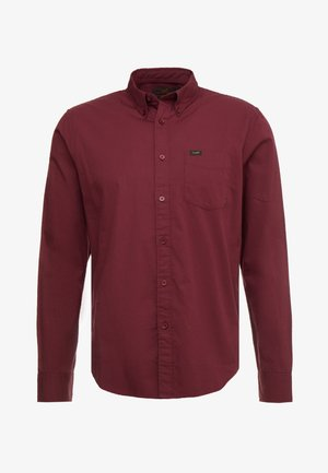 BUTTON DOWN - Shirt - burgundy