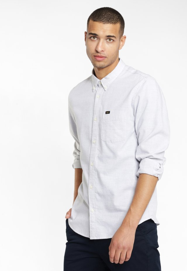 BUTTON DOWN - Shirt - sharp grey