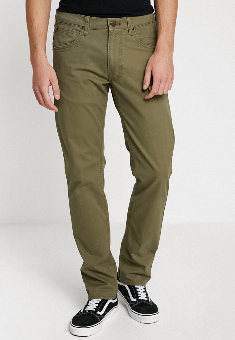Lee - DAREN ZIP FLY - Stoffhose - ivy green