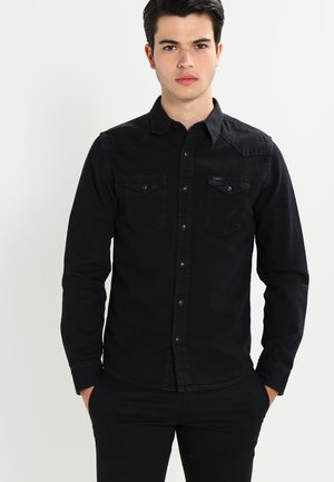 WESTERN SLIM FIT - Overhemd - black