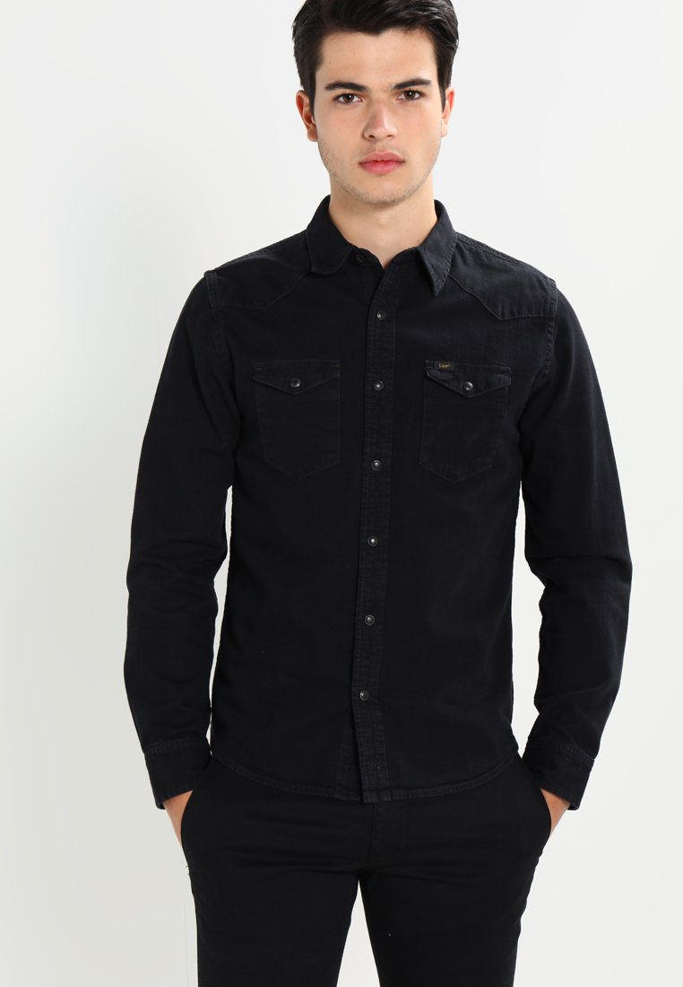 Lee - WESTERN SLIM FIT - Koszula - black