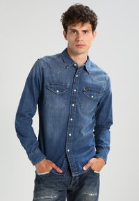 Lee - WESTERN SLIM FIT - Chemise - blue stance - 0