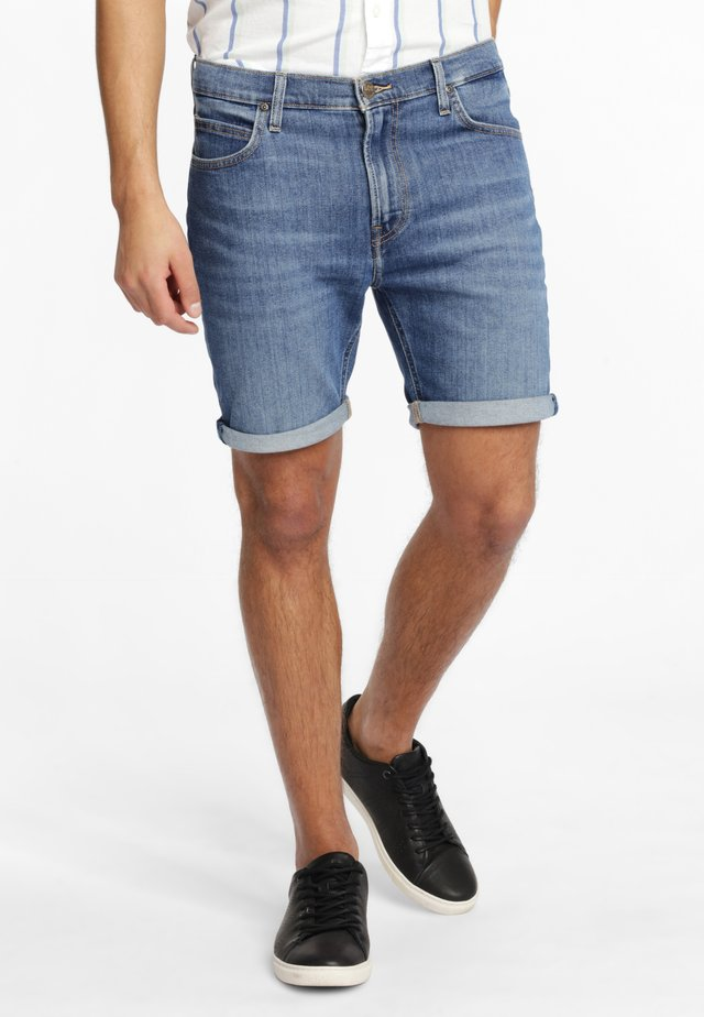 RIDER - Szorty jeansowe - blue