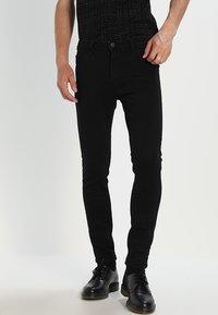 Lee - MALONE  - Skinny džíny - black rinse - 0