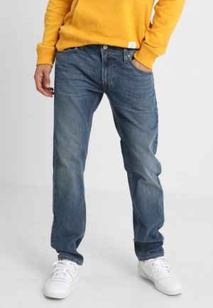 DAREN ZIP - Jeans straight leg - light blue worn