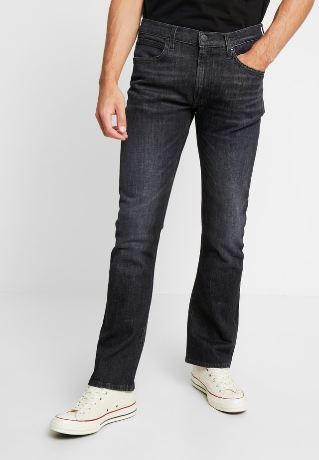 TRENTON - Jeans bootcut - black worn