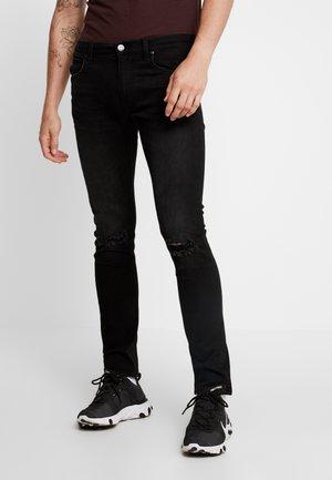 LUKE - Jeans slim fit - moto trashed