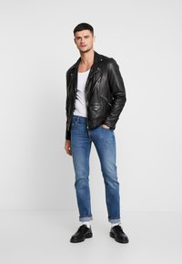 Lee - DAREN ZIP FLY - Jeans a sigaretta - blue used - 1