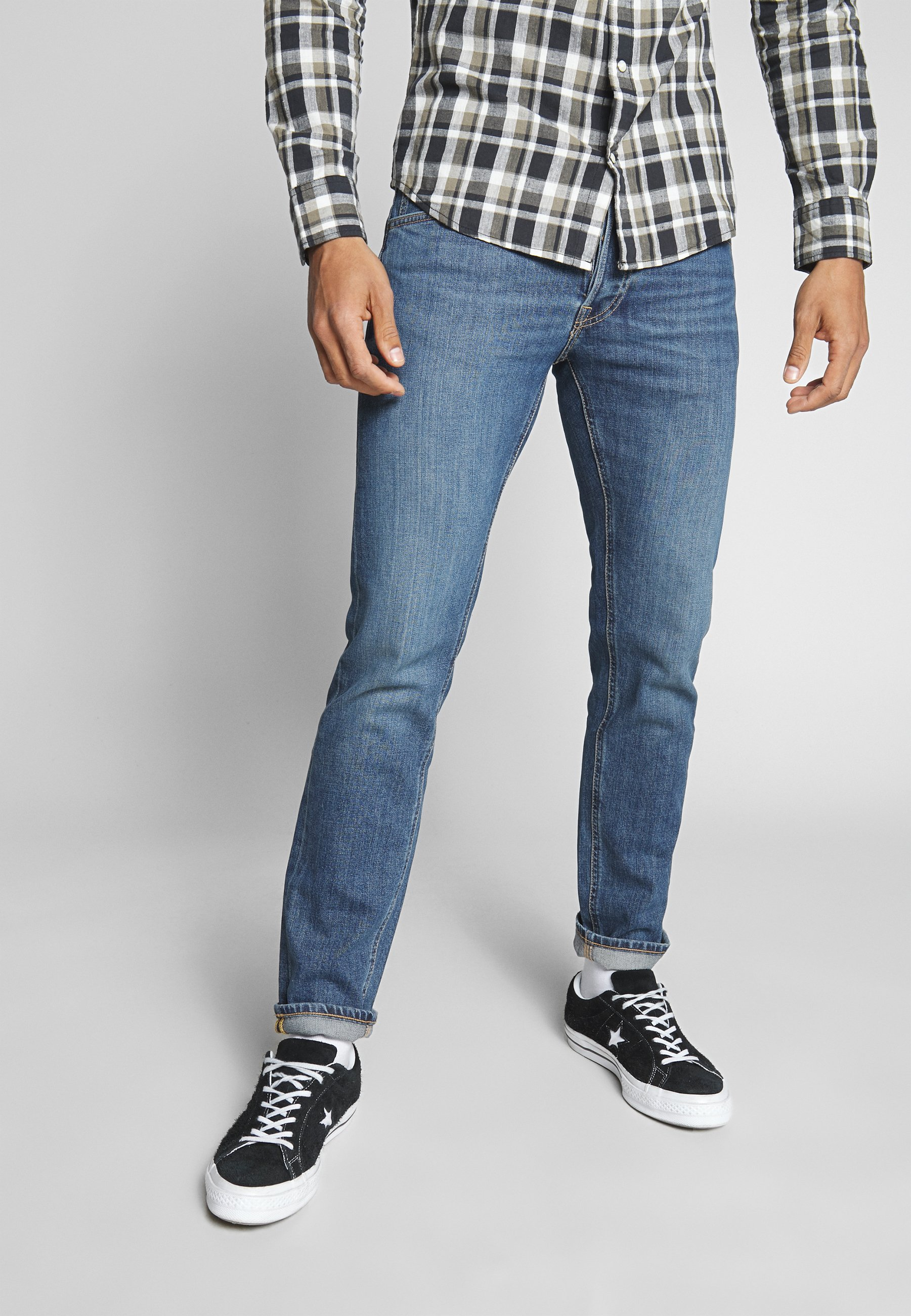 Lee DAREN BUTTON FLY - Jeansy Straight Leg - mid city tint