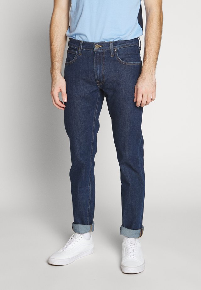 DAREN ZIP FLY - Džíny Straight Fit - dark stonewash
