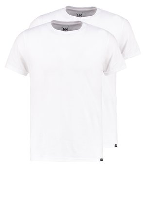 2 PACK - T-shirt - bas - white