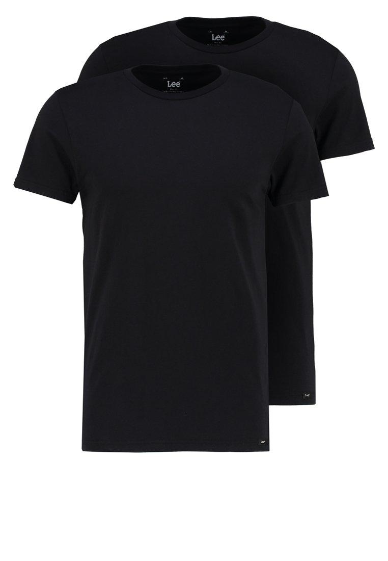 Lee - 2 PACK - T-shirt - bas - black