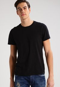 Lee - 2 PACK - T-shirt - bas - black/white - 2