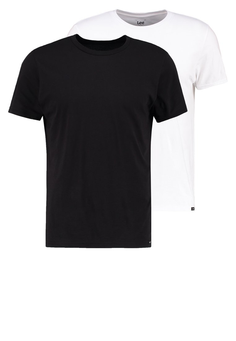 Lee - 2 PACK - T-shirt - bas - black/white