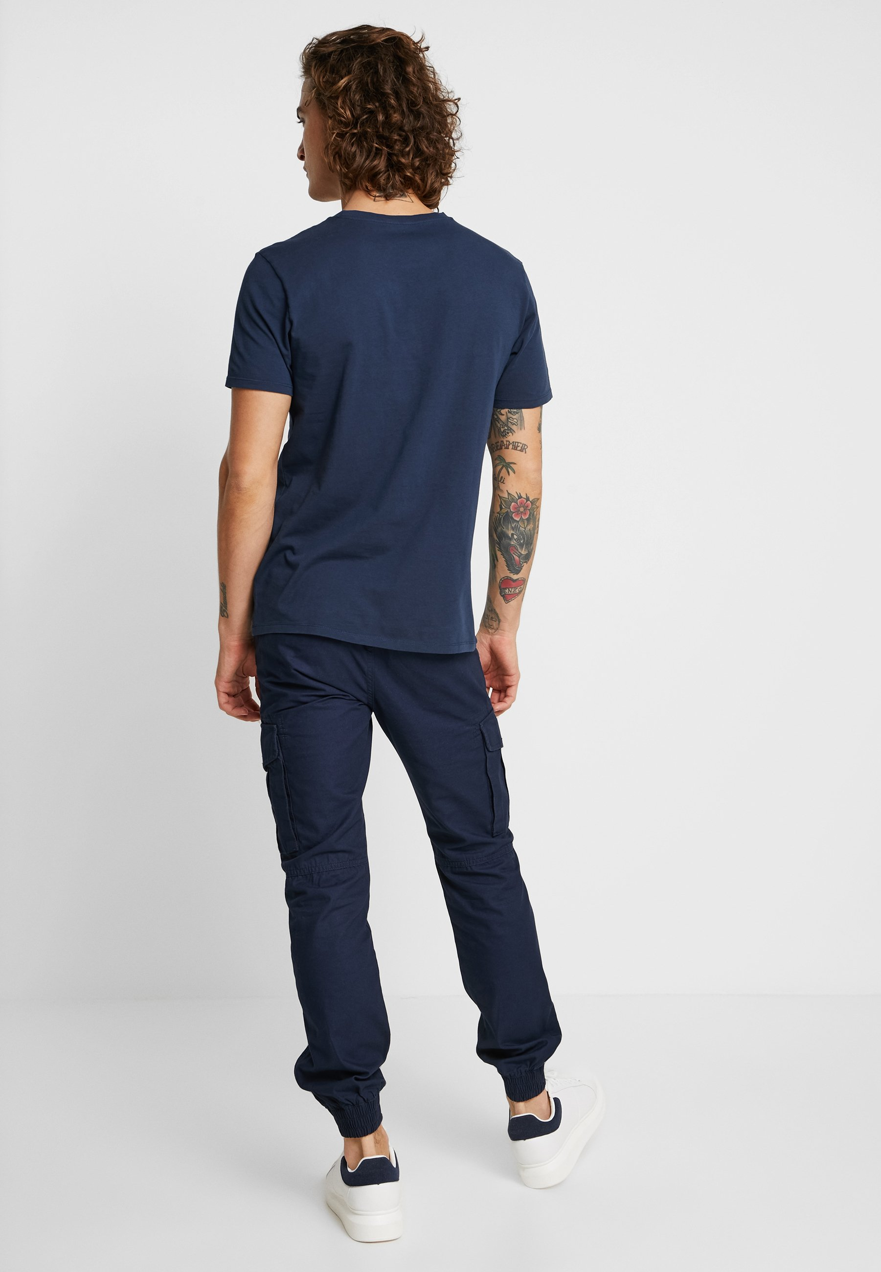 TeeT Navy Lee shirt Drop Logo Imprimé l3FJKcT1