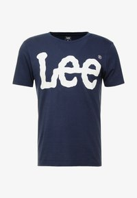 Lee - LOGO TEE - T-shirt con stampa - navy drop - 3