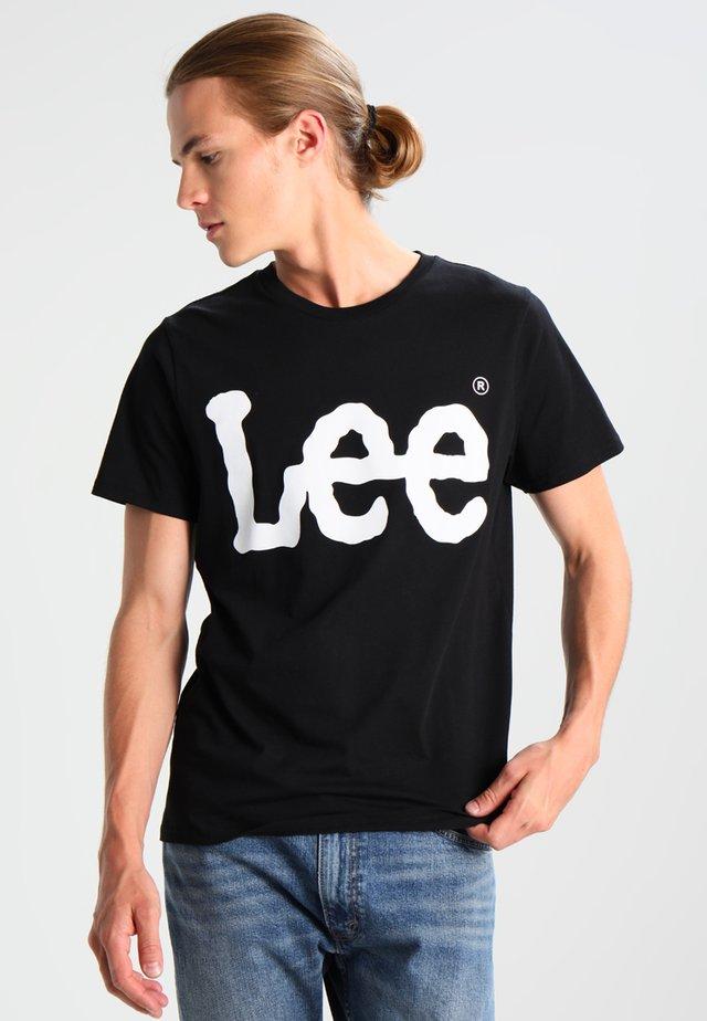 LOGO TEE - T-shirt z nadrukiem - black