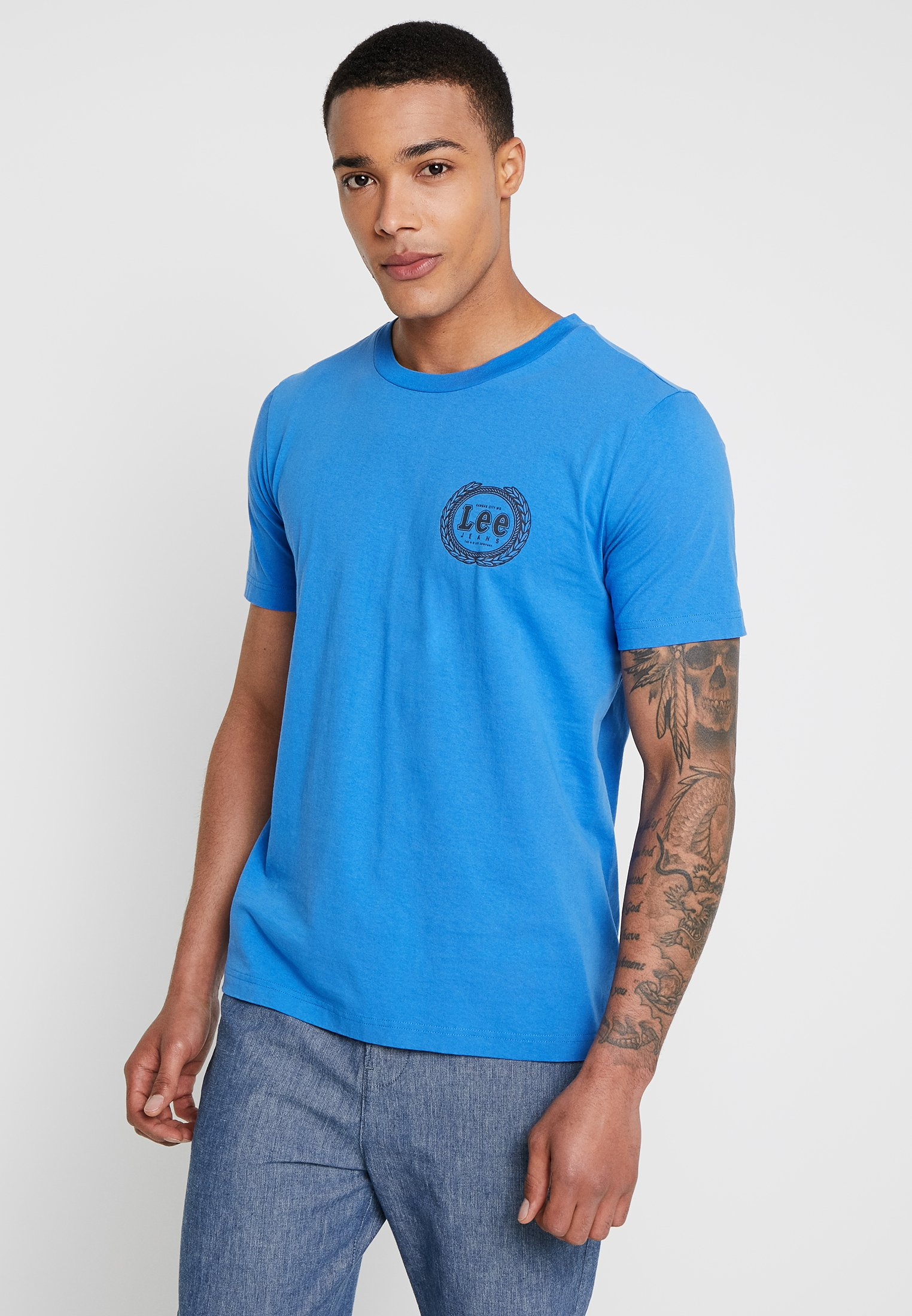 City Imprimé shirt Blue TeeT Lee Emblem kOPw8n0