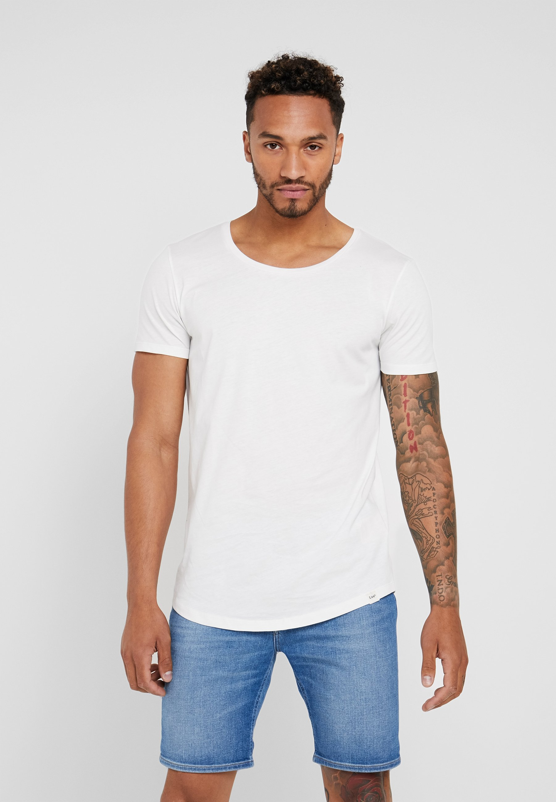 Lee SHAPED TEE - T-shirt basic - cloud dancer