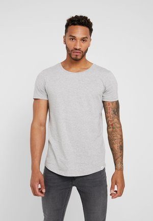 SHAPED TEE - T-shirt - bas - grey mele