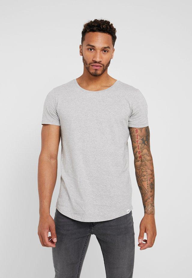SHAPED TEE - T-shirt - bas - grey mele