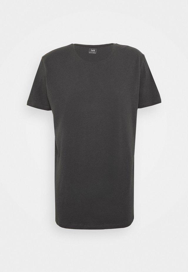 SHAPED TEE - T-paita - black