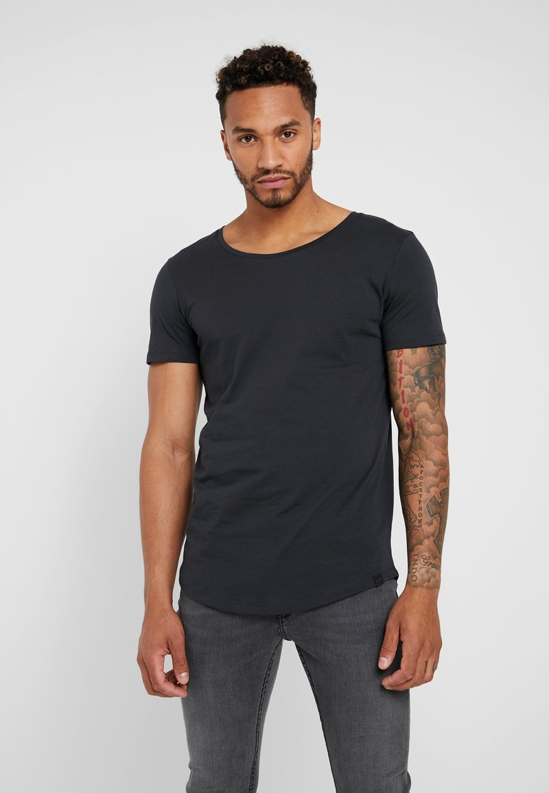 Lee - SHAPED TEE - Jednoduché triko - washed black