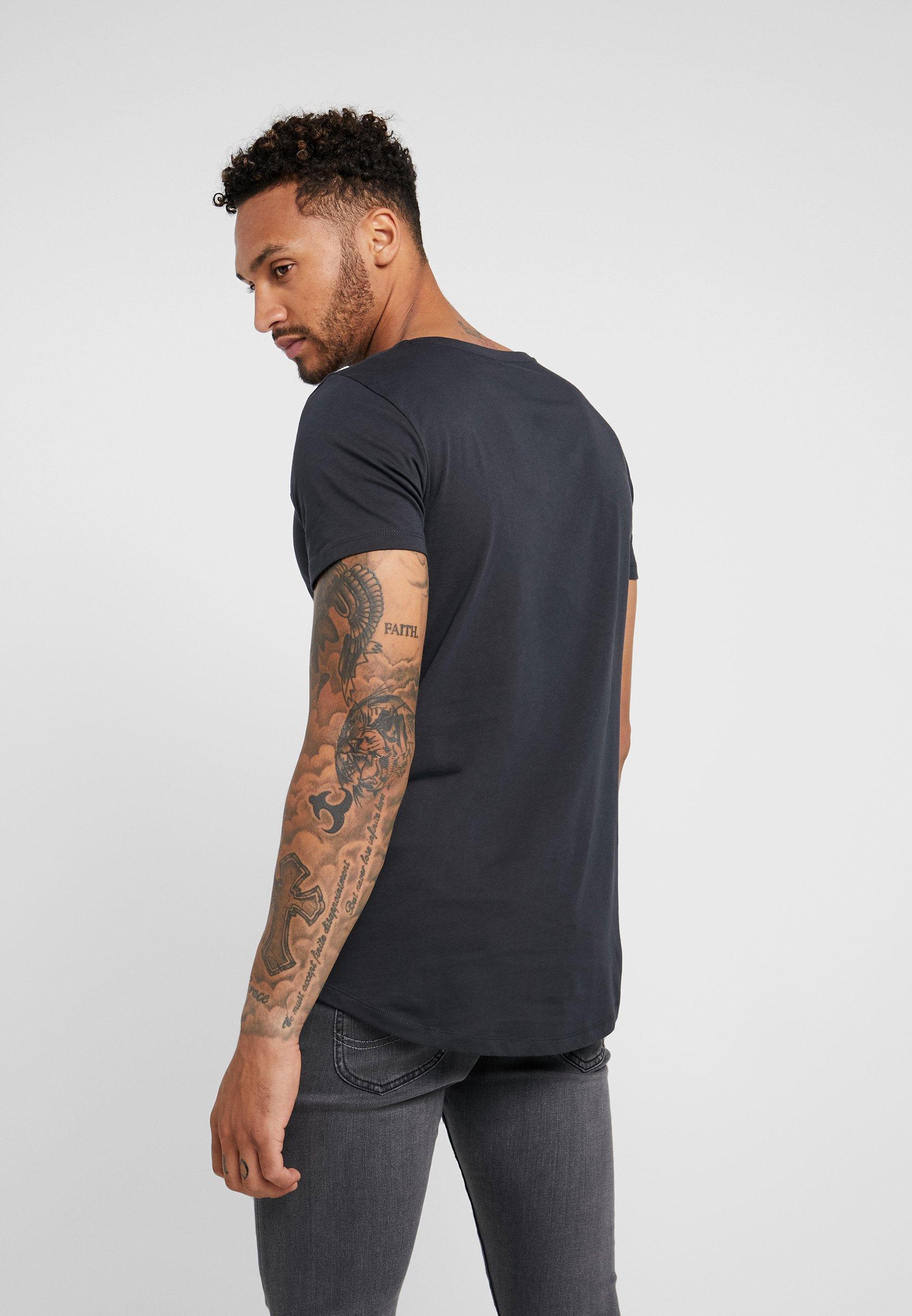 Lee SHAPED TEE - T-shirt basic - washed black