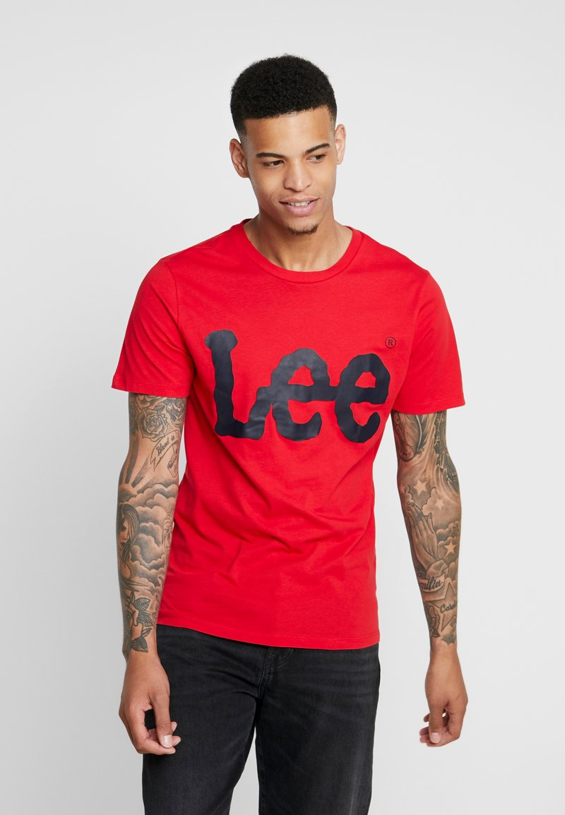 Lee - LOGO TEE - T-Shirt print - warp red