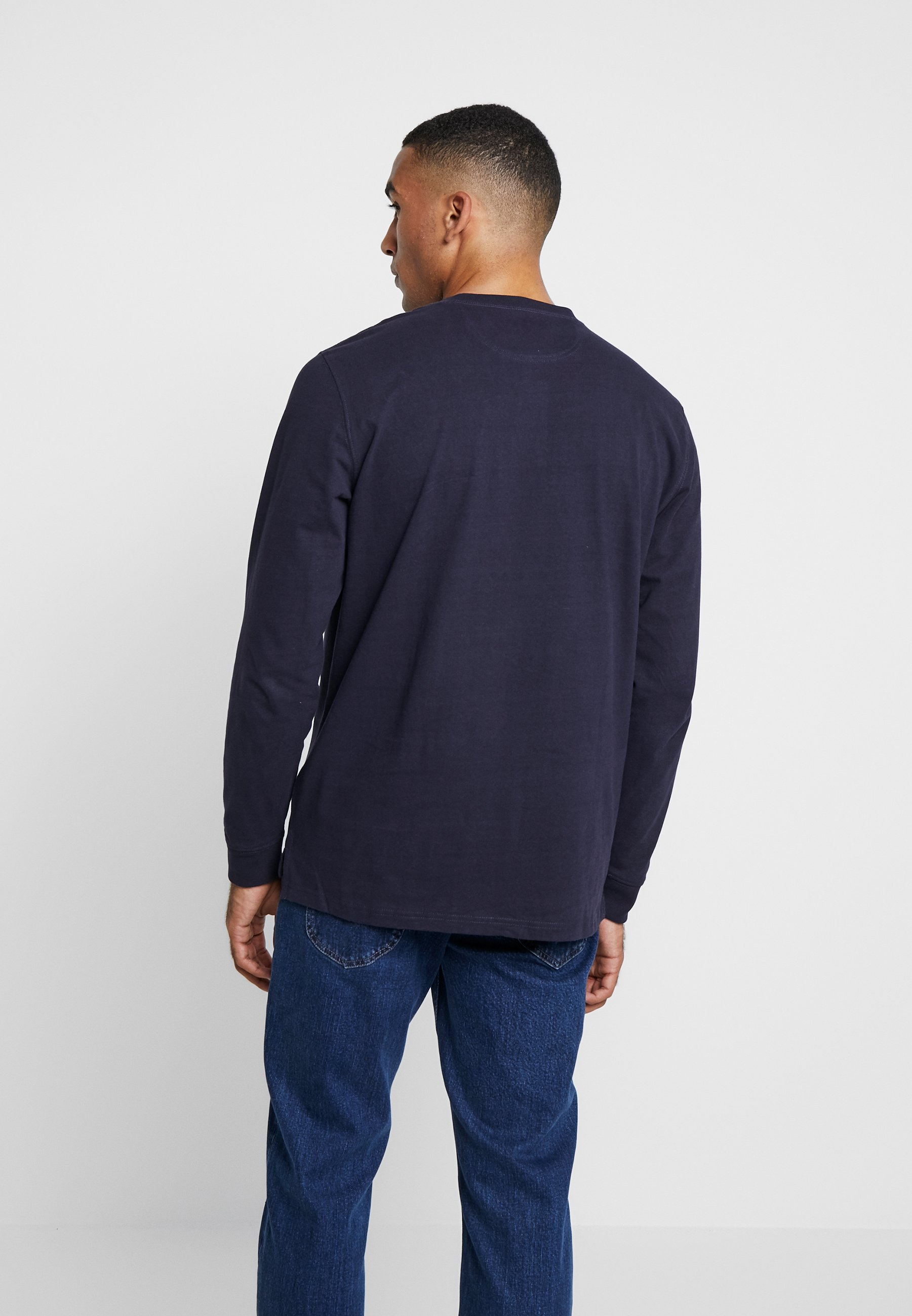 Midnight Longues Lee HenleyT À Manches shirt Navy Rjq4Lc35AS