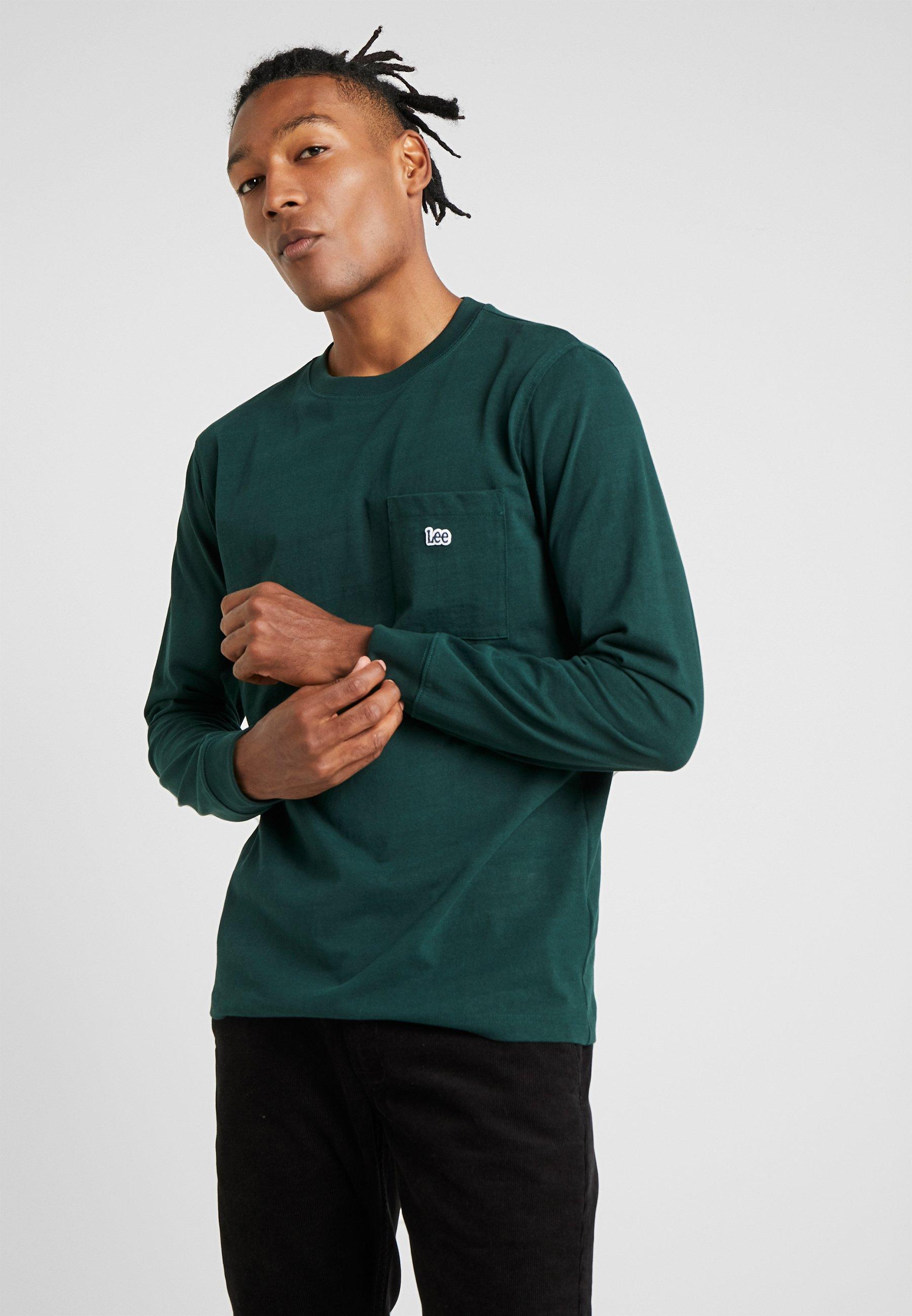 shirt Green Manches Bottle AuthenticT Lee À Longues Dark b7f6Ygy