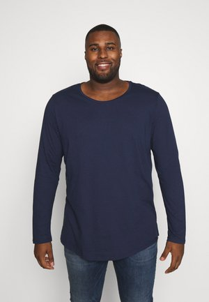 LS SHAPED TEE - Long sleeved top - navy