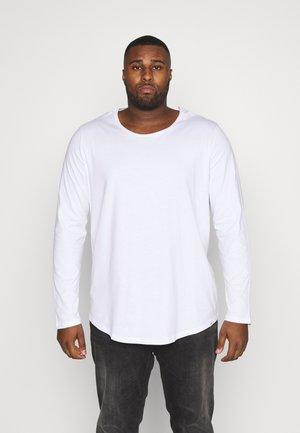 LS SHAPED TEE - Longsleeve - white