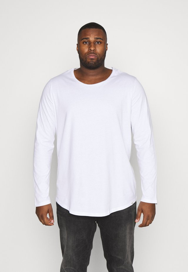 LS SHAPED TEE - Top sdlouhým rukávem - white