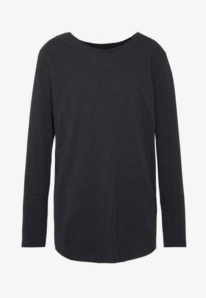 SHAPED TEE - Bluzka z długim rękawem - black