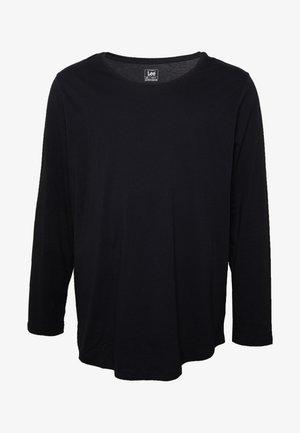 LS SHAPED TEE - Pitkähihainen paita - black