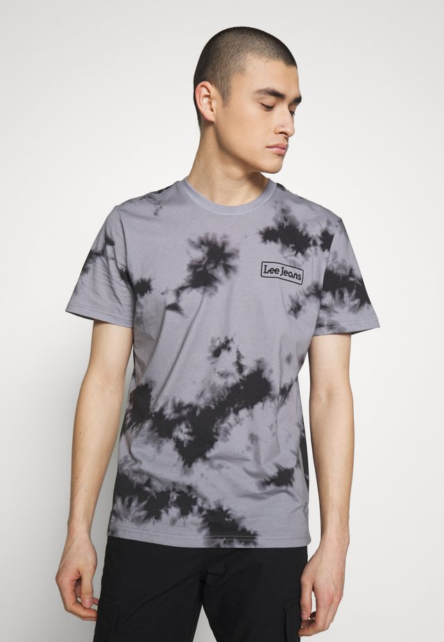 TIE DYE TEE - Print T-shirt - black/grey