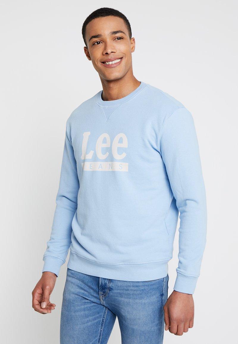 Lee - BASIC GRAPHIC CREW - Sweatshirt - sky blue