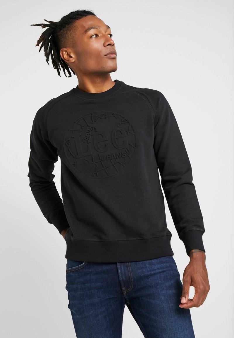 Lee - EMBOSSED CREW - Sweatshirt - black